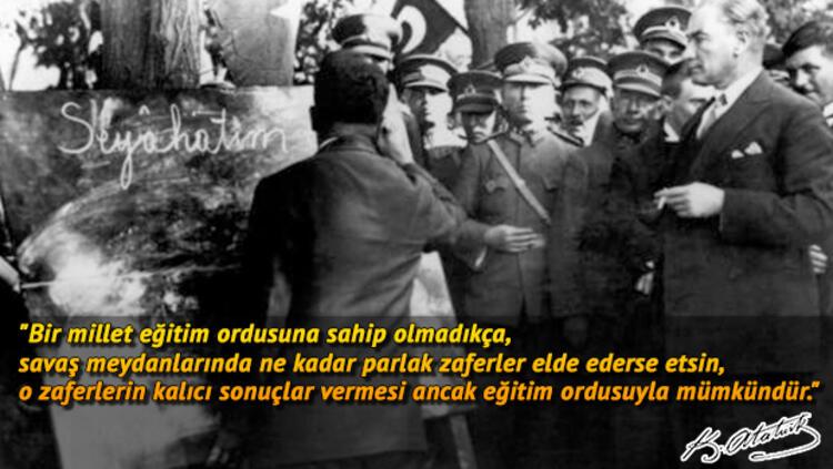 Atatürk'ün Eğitimle İlgili Sözleri, Atatürk Sözleri